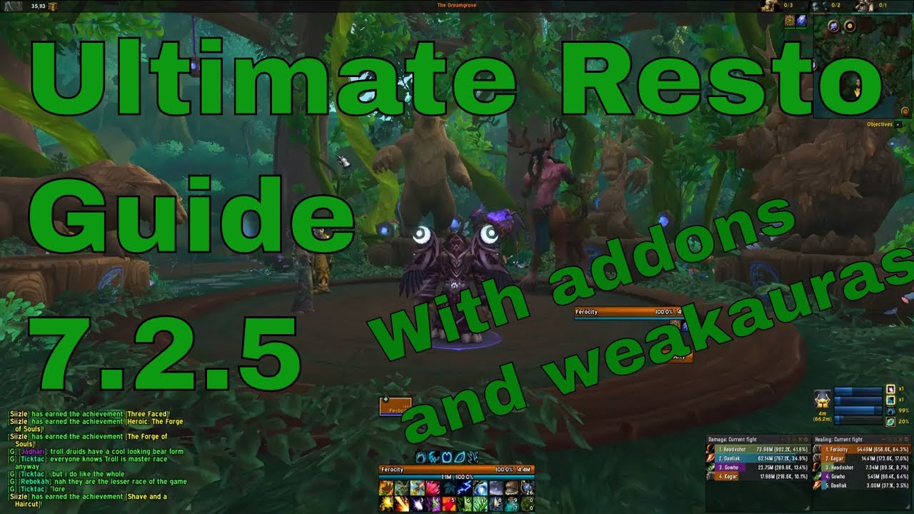 7 2 5 Resto Druid Pve Guide Hot Master Youtube