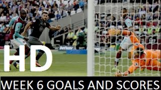 English premier league | matchweek 6 goals and scores hd