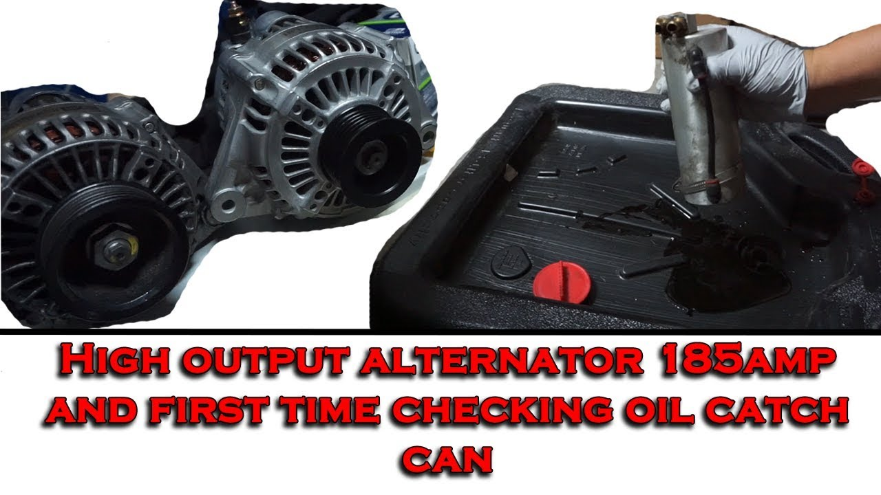 High Output Alternator And Oil Catch Can Check 95 Accord