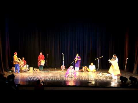 Performance by traditional musicians at Africa Festival in Delhi