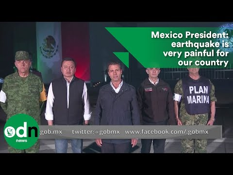 Mexico President: earthquake is very painful for our country