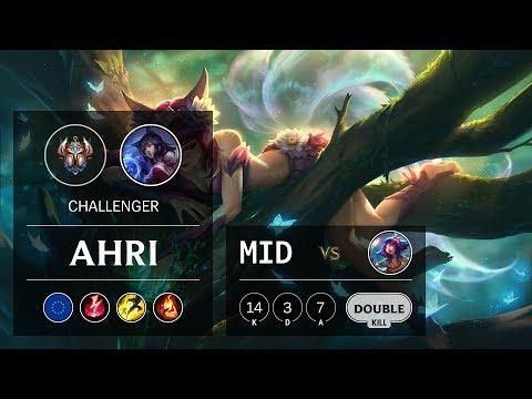 Ahri Mid vs Neeko - EUW Challenger Patch 9.18