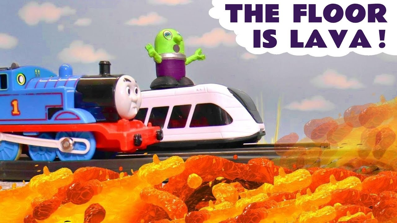 The Floor Is Lava Rescue with Thomas The Tank Engine and the Funny Funlings TT4U