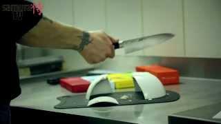 samura TV. Выпуск 3.  Заточка ножа на водных камнях. Как быстро заточить нож