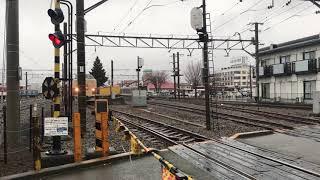 189系M51編成 ホリデー快速富士山号 河口湖駅発車!