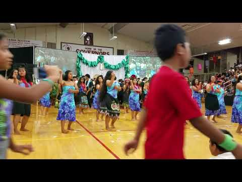 "Rep. Mizuno at the ""GOVS IN PARADISE MAY CELEBRATION at Farrington High School ""Micronesia"" dance"