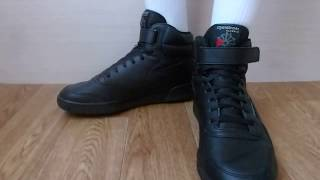 ОБУВЬ - 8 - кроссовки Reebok (чёрные-высокие) обзор