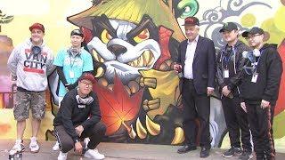Graffiti mural at Canadian Embassy celebrates 2018 China Canada Year of Tourism