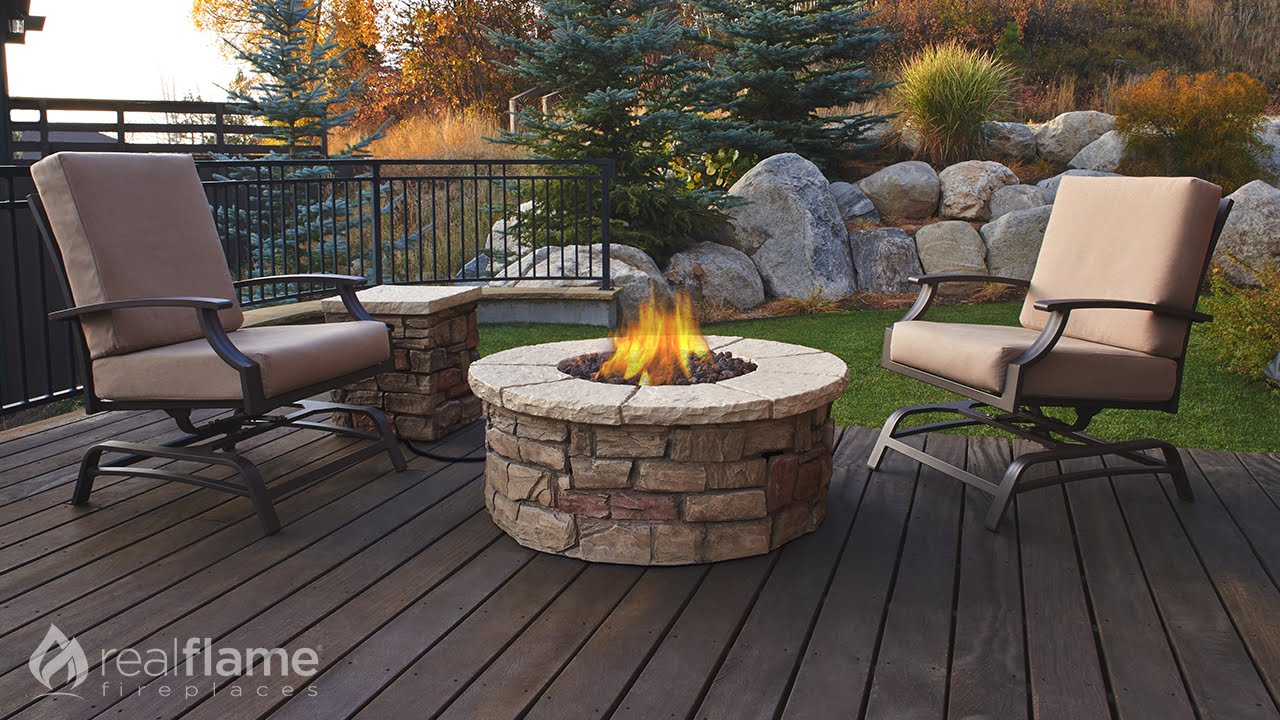 Real Flame   Sedona Round Propane Fire Table