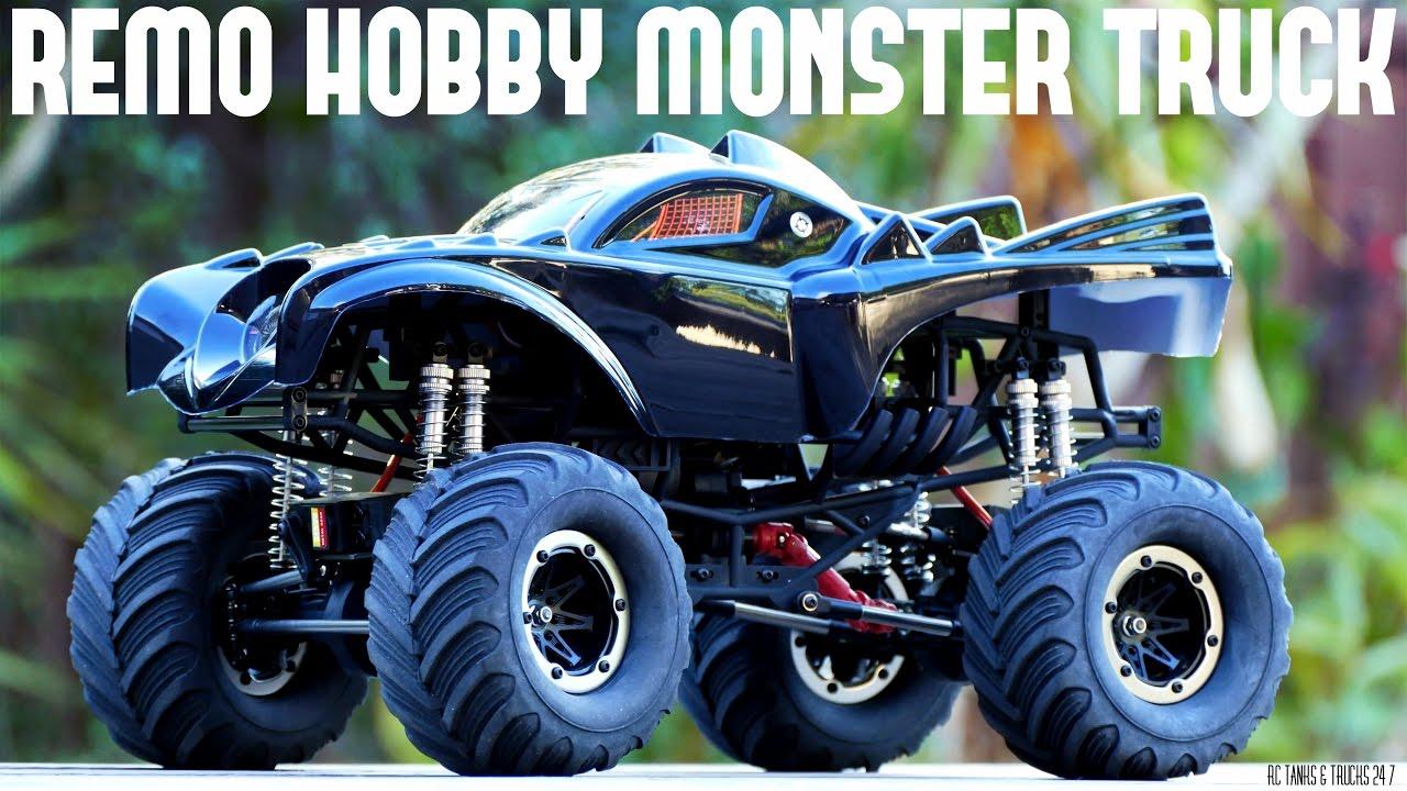 Monster Trucks For Sale >> REMO HOBBY Monster Jam BATMAN Brushless 1/10 RC - Unboxing & First Look - YouTube