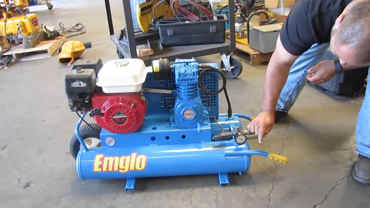 Emglo Wheelbarrow Air Compressor Honda Gas Powered 5hga 8p