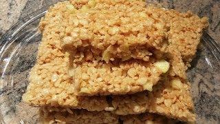 Rice Krispy Treats | Apple Rice Crispy Treats | Sweet Rice Krispie Treats