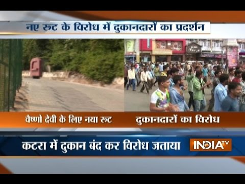 Shopkeepers Protest Against New Route To Vaishno Devi Shrine