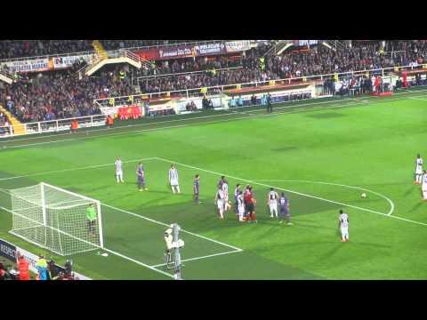 Fiorentina Juve 0 - 1 Gol Pirlo 20-03-2014 Settore Ospiti LIVE