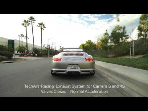TECHART Exhaust System 'Racing' for 991 2 Carrera 2/S/4/4S