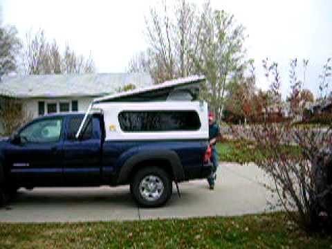 Toyota Tacoma Topper >> Flip Pac Close - YouTube