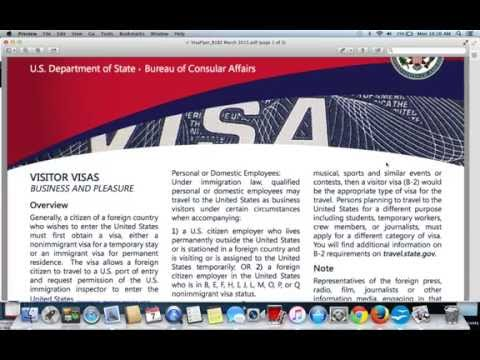 Visitor or Tourist Visa|B1/B2 Visa Application USA