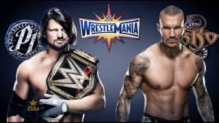 aj styles vs randy orton wrestlemania 33 promo legacies collide