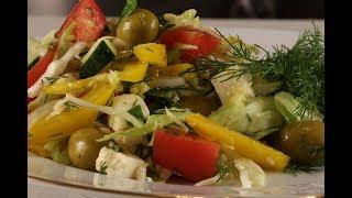 """Легкий Овощной  Салат """"Летний ветерок"""" - вкусный и очень быстрый!"""