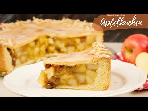 Omas gedeckter Apfelkuchen I Apfelkuchen Rezept