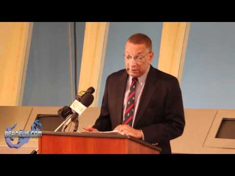 Minister Burch speaks at Bermuda Cablevision Community Service Award Ceremony