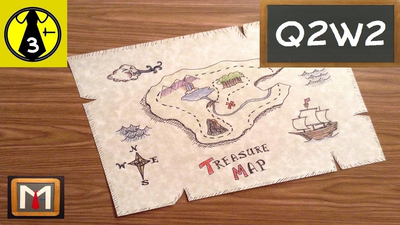 drawing a treasure map youtube