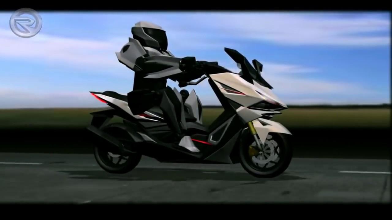 HONDA PCX 250 RR 2020 - design teaser view - YouTube