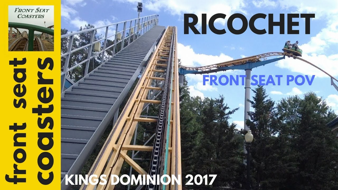ricochet pov hd kings dominion 2017 front seat on ride mouse roller
