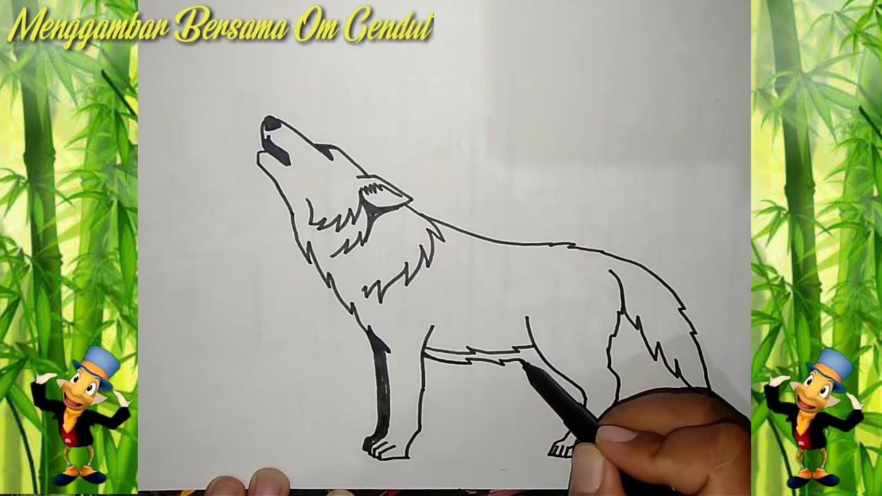 Cara Menggambar Serigala Dengan Mudah How To Draw Wolf In Easy Way