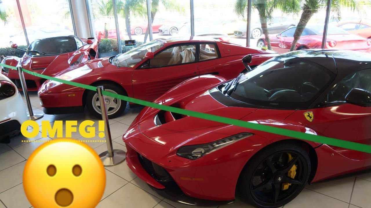 The Insane Inventory At Ferrari Maserati Orlando Youtube