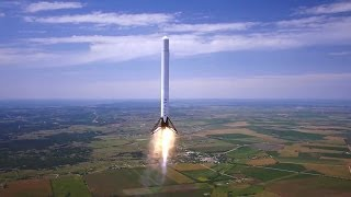 SpaceX - Falcon 9 Reusable (F9R) Rocket Flight Test of 1km [1080p]