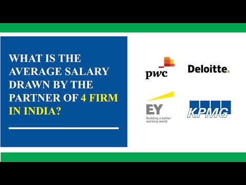 What is the average salary drawn by a partner of Big 4 firm