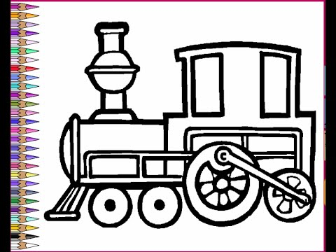 Trains Coloring Pages For Kids Trains Coloring Pages YouTube