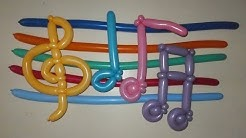 Musical notes of balloons