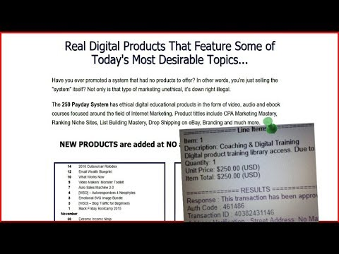 Make $250 Online Paid Instantly – Affiliate Marketing For Beginners – 250 Payday System Proof
