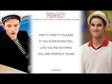 Glee   Perfect Lyrics