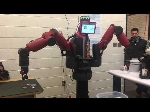 Robot pours coffee at Cape Cod Community College