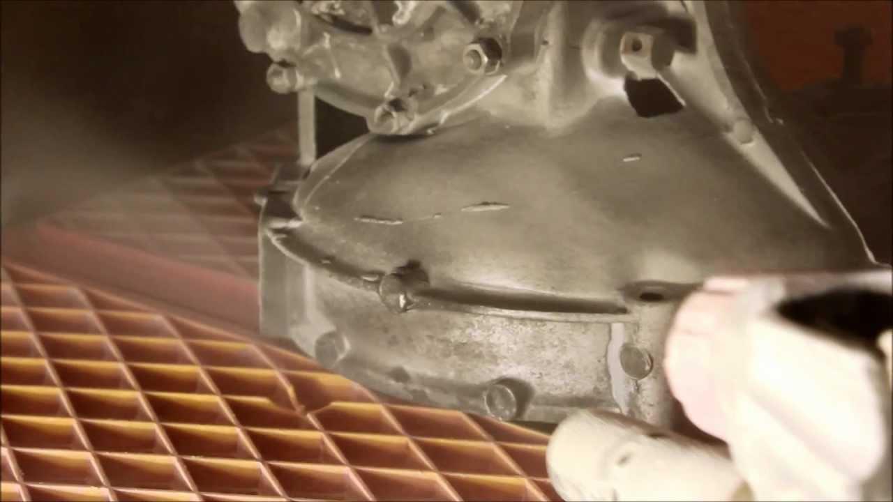 Sodastrahlen Soda Blasting Backpulverstrahlen Von Getriebe Und
