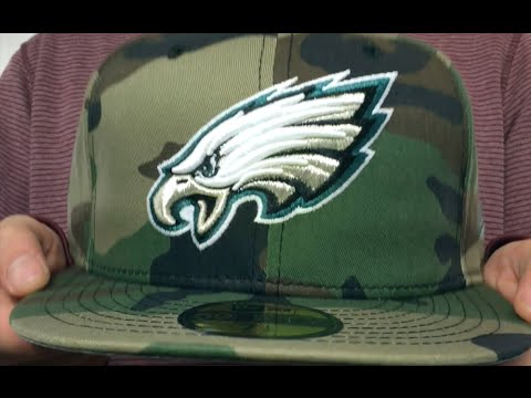 88f88e9c414 Eagles  NFL TEAM-BASIC  Army Camo Fitted Hat by New Era - YouTube