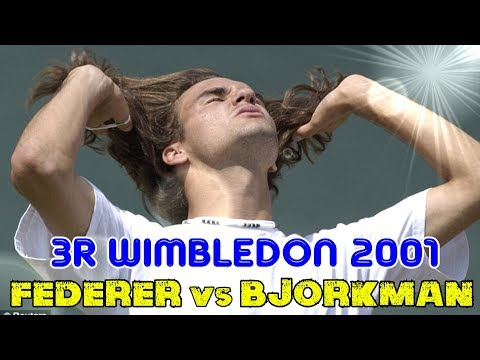 Match BEFORE Sampras!!! Federer v Björkman ● 3R Wimbledon 2001 Highlights