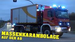 [GROSSALARM auf der A8!] Einsatzfahrten von 5 Feuerwehren + RD | Großübung für 250 Einsatzkräfte!