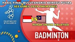 HASIL FINAL BULUTANGKIS SEA GAMES 2019 | Indonesia VS Malaysia Beregu putra Video