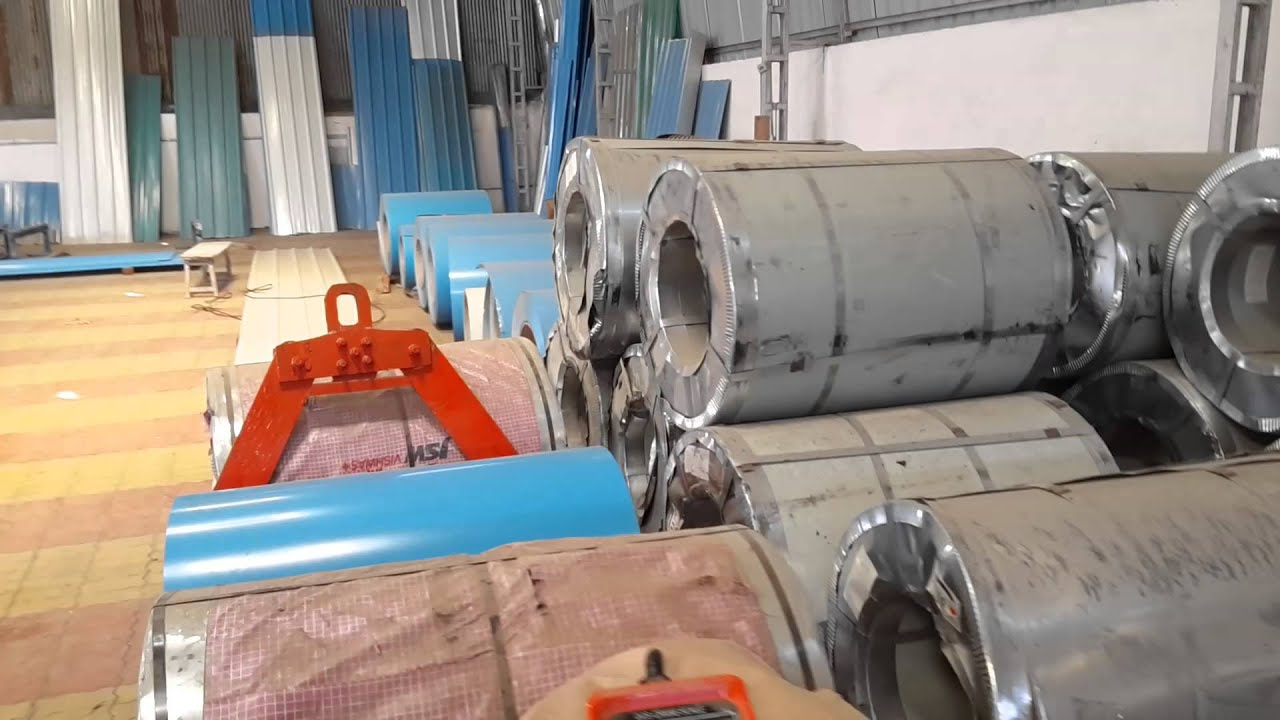 Colour coated sheets manufacturing process - Ppgi Ppgl Coil For Roofing Sheet Profile Sheet Colour Coated Shert