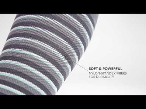 Stripe RejuvaSocks® | A closer look at Rejuva's fashionable compression socks