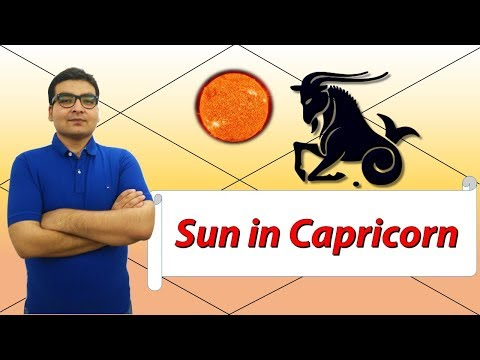 Sun in Capricorn (Traits and Characteristics) - Vedic Astrology