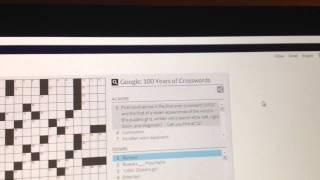 Crossword Puzzle Google Doodle - 12/20/13