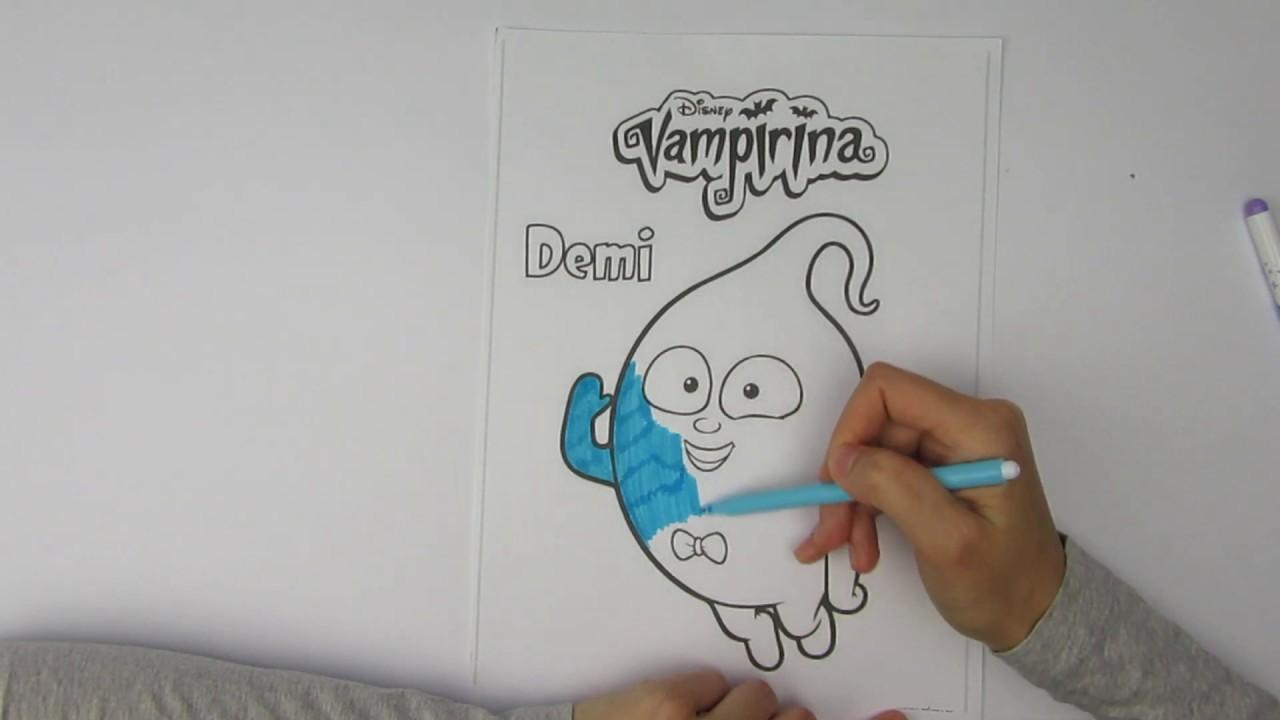мультик раскраска вампирина деми мультик раскраска деми Vampirina Demi
