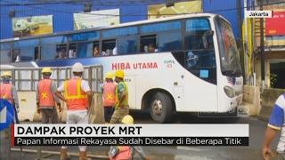 Dampak Proyek MRT, Jalan Fatmawati Sisa 3 Meter