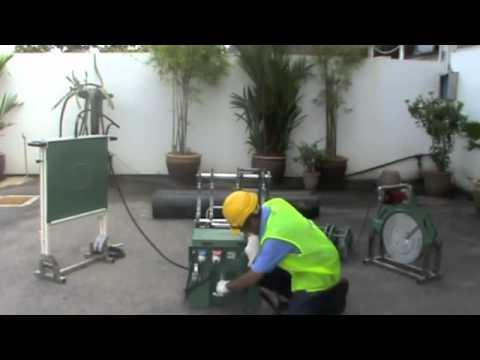 Máy hàn ống nhựa HDPE - TECNODUE - Cty Đồng Lợi .Phần 1