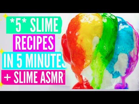 easy-slime-recipes//jelly-slime,-diy-clay-slime,-slushie-slime,-snow-fizz-how-to-make-slime-tutorial